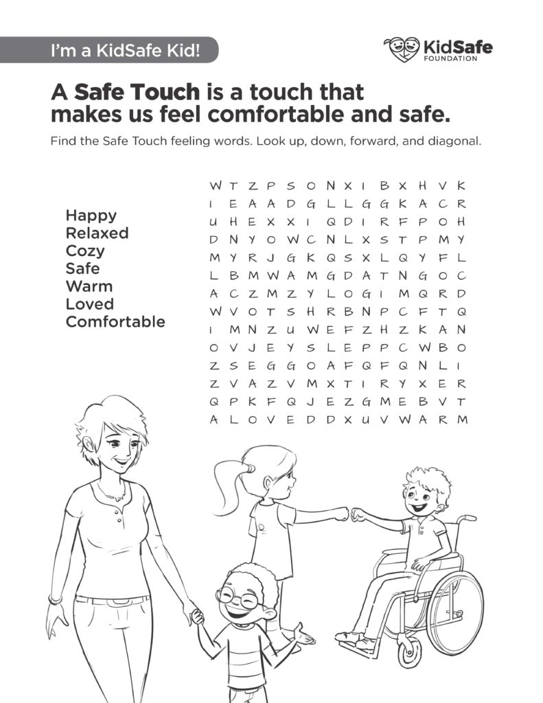 KidSafe Activity Sheet 8